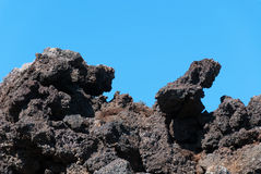Solid lava in Iceland. Conformations lava on the Blue Lagoon in Iceland Royalty Free Stock Photography