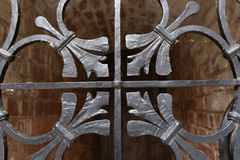 Solid metal door decoration. Old castle Solid metal door decoration Royalty Free Stock Images