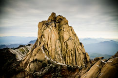 solid mountain rocks Royalty Free Stock Photography