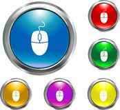 Solid Mouse Button. This is a solid mouse button for internet designs and layouts Royalty Free Stock Image