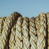 Solid navigation rope. A bundle of the solid navigation rope Stock Image