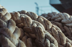 A solid navigation rope. A bundle of the solid navigation rope Stock Photography