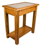 Solid Oak End Table Royalty Free Stock Photos
