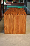 Solid Oak wood countertop. Sample of solid Oak wood countertop Royalty Free Stock Image