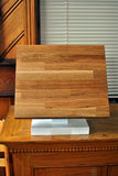 Solid Oak wood sample. Sample of solid Oak wood countertop Royalty Free Stock Photo
