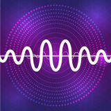 Solid och ljudsignal waveformdesignbakgrund Royaltyfria Foton