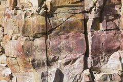 Solid rock cliff geologic environment Stock Photography