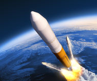 Solid Rocket Boosters Separation Stock Photos