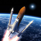Solid Rocket Buster Detached. Royalty Free Stock Image