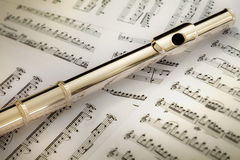 Solid Silver Flute Head Joint Stock Images