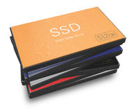 Solid state disks with clipping path Royalty Free Stock Photos