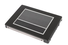 Solid State Drive. Shot of SSD on white background Royalty Free Stock Photos
