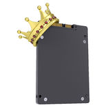 Solid-state drive with the crown. Isolated render on a white background Stock Images