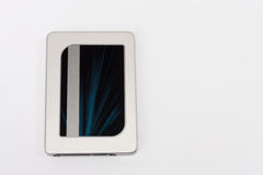 Solid state drive disk on white background Stock Photos