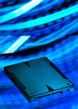 Solid state drive. Speed solid state drive storage Stock Image