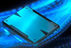 Solid state drive. Speed solid state drive storage Stock Images