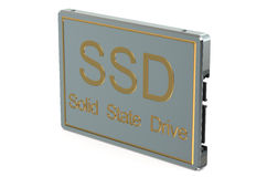 Solid state drive SSD closeup Royalty Free Stock Photo
