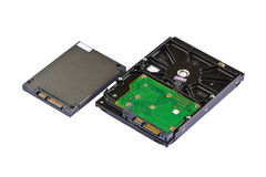 Solid state drive (SSD) and hard disk drive (HDD) Stock Photo