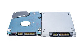 Solid state drive SSD next to 2,5 Stock Photo