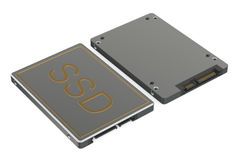 Solid state drive SSD top and bottom views Royalty Free Stock Photo