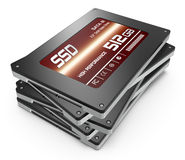 Solid state drives Stock Image