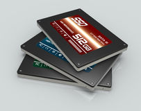 Solid state drives Stock Images