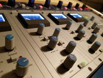 Solid state Logic analog gear. Professional analog audio studio equipment royalty free stock photo