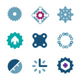 Solid steel chain of strength company business success icon logo stock illustration