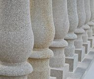 Solid stone pillars Royalty Free Stock Image