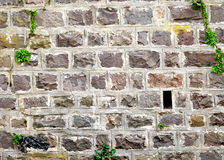 Solid Stone Wall Background Stock Photo