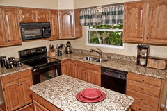 Solid Surface Counter Tops. Kitchen with solid surface counter tops Royalty Free Stock Photo