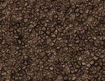Solid texture with many brown stones Royalty Free Stock Photo