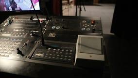 Solid utrustning i teatern stock video