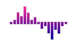 Solid våg för musik, ljudsignal teknologi, vektorillustration Arkivbilder