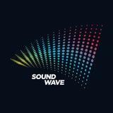Solid våg för musiklogobegrepp, ljudsignal teknologi, abstrakta Shape Royaltyfri Foto