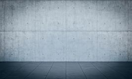 Solid wall background. Solid concrete wall background 3d rendering image Royalty Free Stock Photo