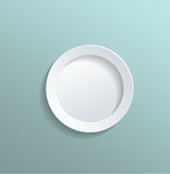 Solid White Circle Against Light Gray Green Stock Images