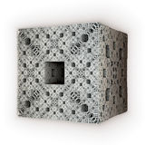 Solid white cube Royalty Free Stock Photography