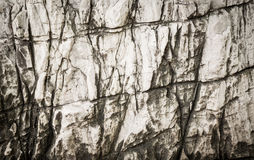 Solid White Stone in Cave Royalty Free Stock Images