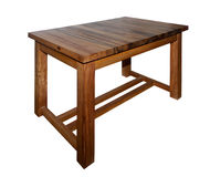 Solid wood table isolated Stock Image
