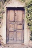 Solid wooden door Royalty Free Stock Photos