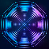 Solida kottar för vektor på kosmisk bakgrund Arkivfoton