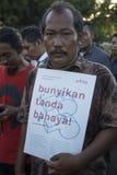 Solidarität für JJ ein Opfer des Vergewaltigens durch 14 Jungen in Indonesien Lizenzfreies Stockbild