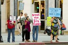 Solidarität-Sammlung zur Unterstützung besetzen Wall Street lizenzfreie stockbilder