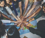 Solidarité Team Group Community Concept de camarade de classe images libres de droits