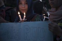 Solidariteit voor YY een Slachtoffer van het Verkrachten door 14 Jongens in Indonesië Royalty-vrije Stock Afbeeldingen