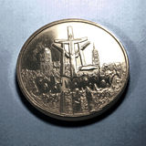 Solidarity. Movement on polish ocassional coin royalty free stock photo
