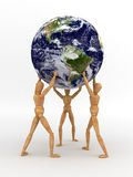 Solidarity (With clipping path). Solidarity. (Maps used from NASA stock illustration