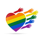 Solidarity  gay people. LGBT (lesbian, gay, bisexual, and transgender) support concept Royalty Free Stock Photo