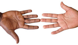 Solidarity gesture of hands Royalty Free Stock Photos